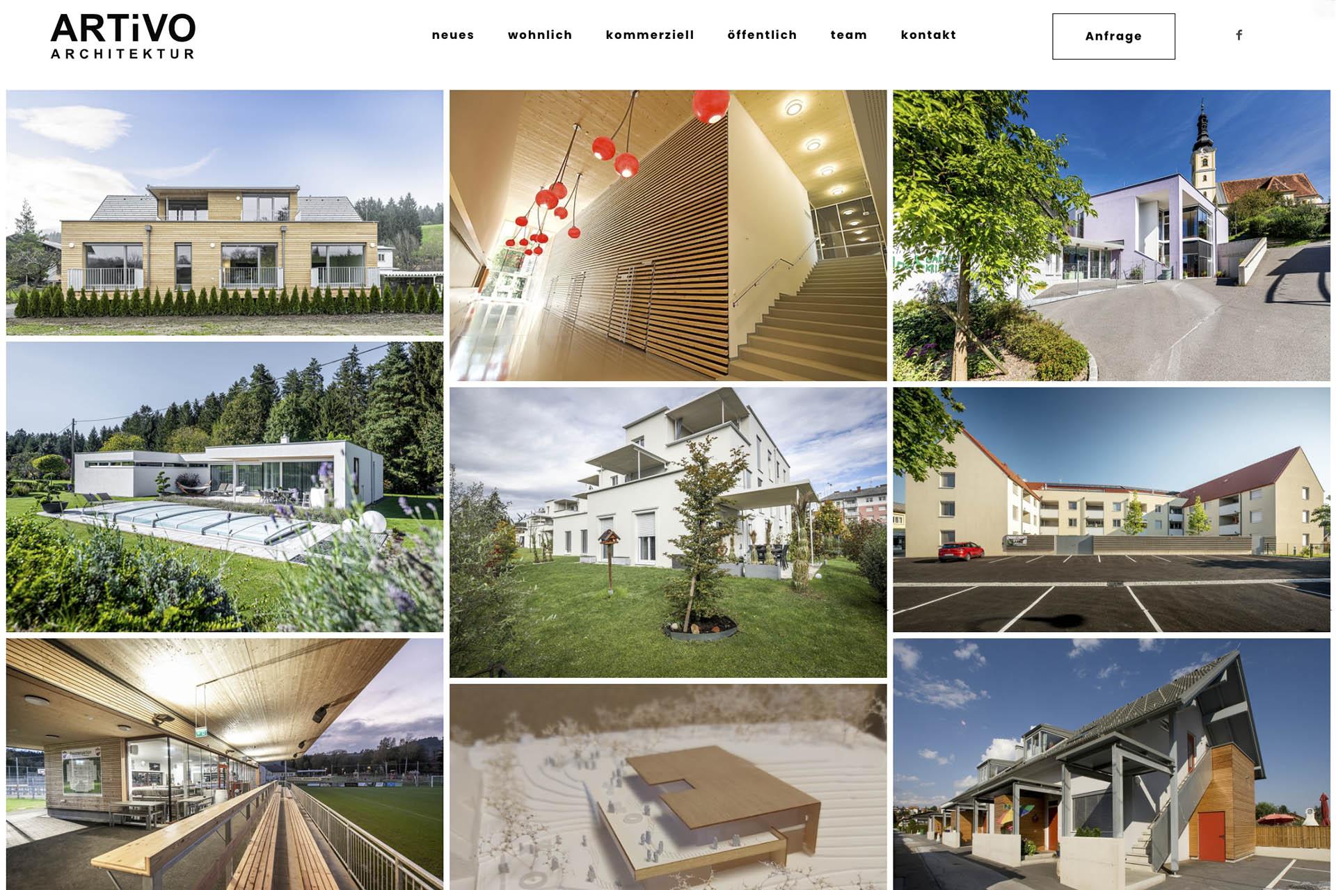 Artivo - neue Website ist online - planung und bauaufsicht köflach, voitsberg